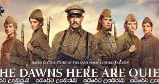 The Dawns Here Are Quiet… (2015) Sinhala Subtitles | නිහඬ අලුයම [සිංහල උපසිරැසි සමඟ]